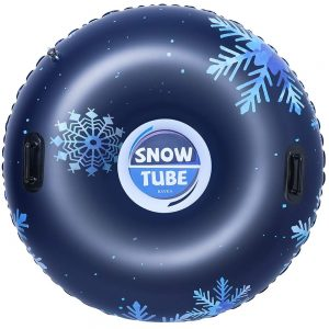 BAYKA Snow Tube for Winter Fun, Inflatable 47 Inch Heavy