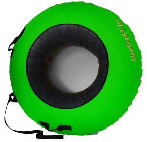 """ClearCreekTubes Super Slick 44"""" Huge Non-Towable with Gray Bottom NO Wax Needed Snow Tube"""